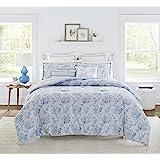 Laura Ashley | Nina Collection | Luxury Ultra Soft Comforter, All Season Premium 7 Piece Bedding Set, Stylish Delicate Design