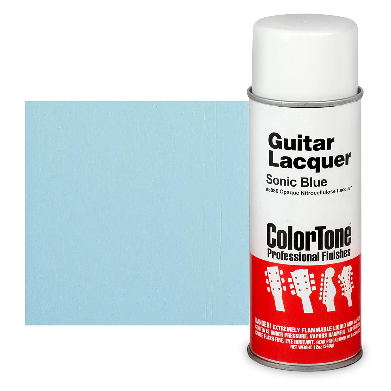 ColorTone 50s Classic Colors Aerosol Guitar Lacquer, Sonic Blue