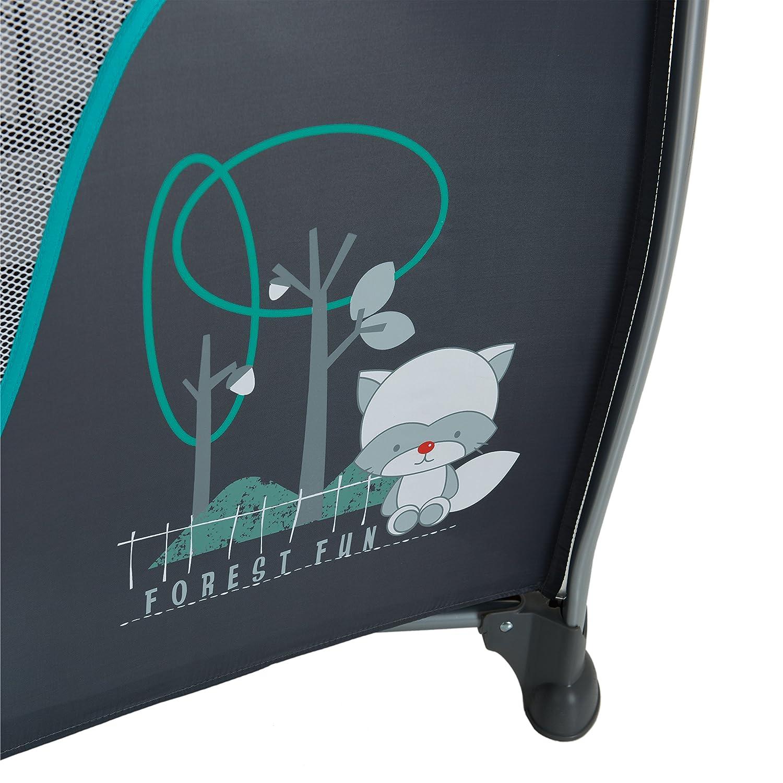 Cuna de viaje 7 piezas de 0 meses a 15 kg azul ruedas apertura lateral ajustable y plegable altura reci/én nacido bolsillo cambiador colchon Hauck Sleep N Play Center II bolsa de transporte