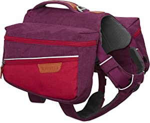 RUFFWEAR Dog Pack for Everyday Use, Large to Very Large Breeds, Adjustable Fit, Size: Large/X-Large, Larkspur Purple, Commuter Pack, 5050-580LL1