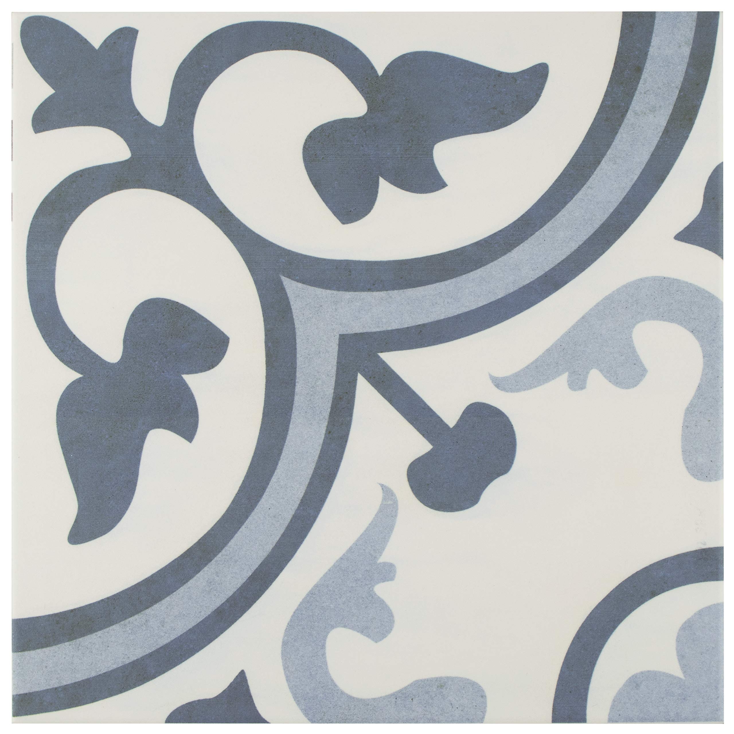SomerTile FCG12AMA Canton Ceramic Floor and Wall Tile 12.38''x12.38'' Azul 10 Piece