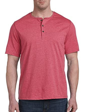 29a7853c Harbor Bay by DXL Big and Tall Wicking Jersey Henley Shirt, Claret Red  Space Dye