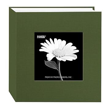 Amazoncom Pioneer 100 Pocket Fabric Frame Cover Photo Album