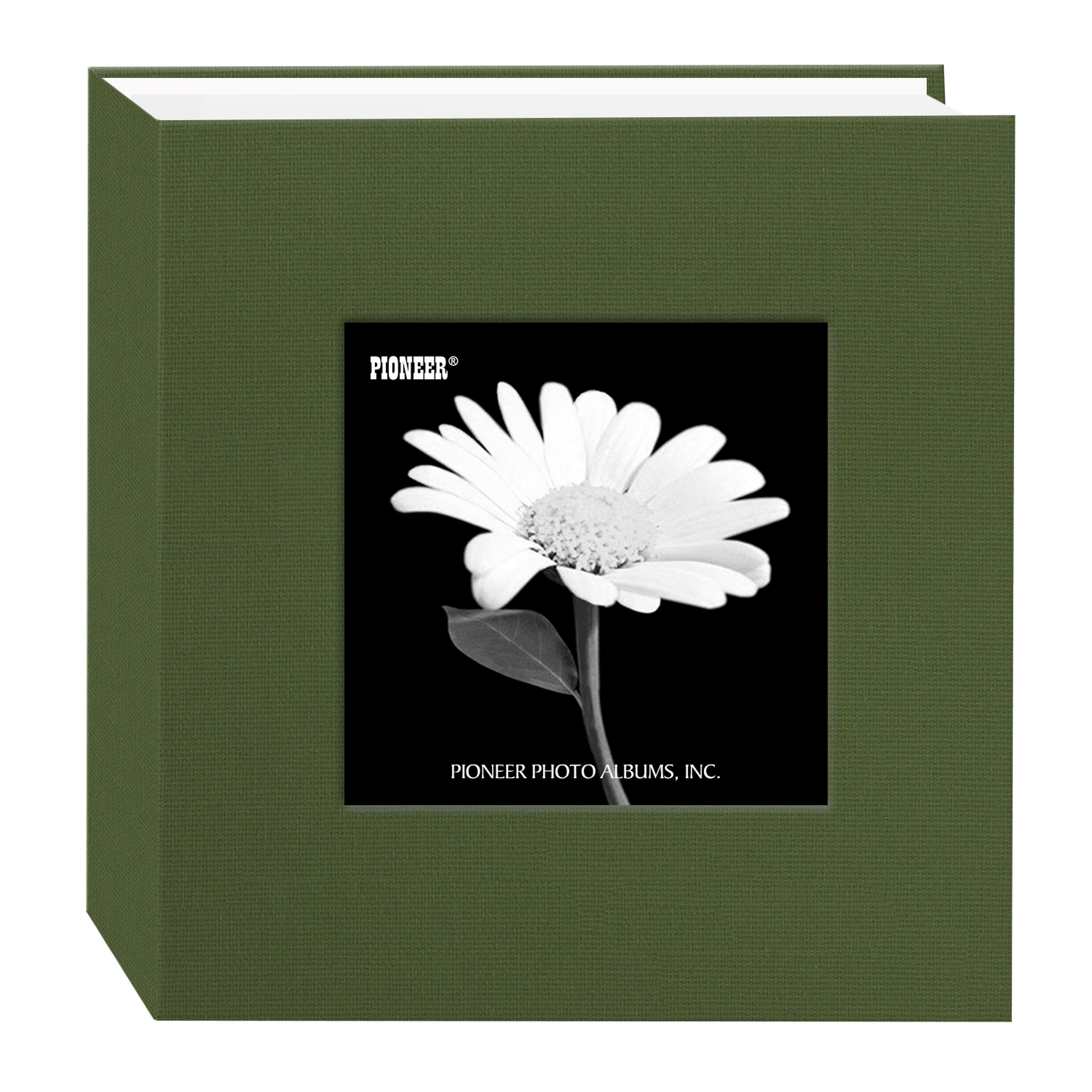 Pioneer 100 Pocket Fabric Frame Cover Photo Album, Herbal Green
