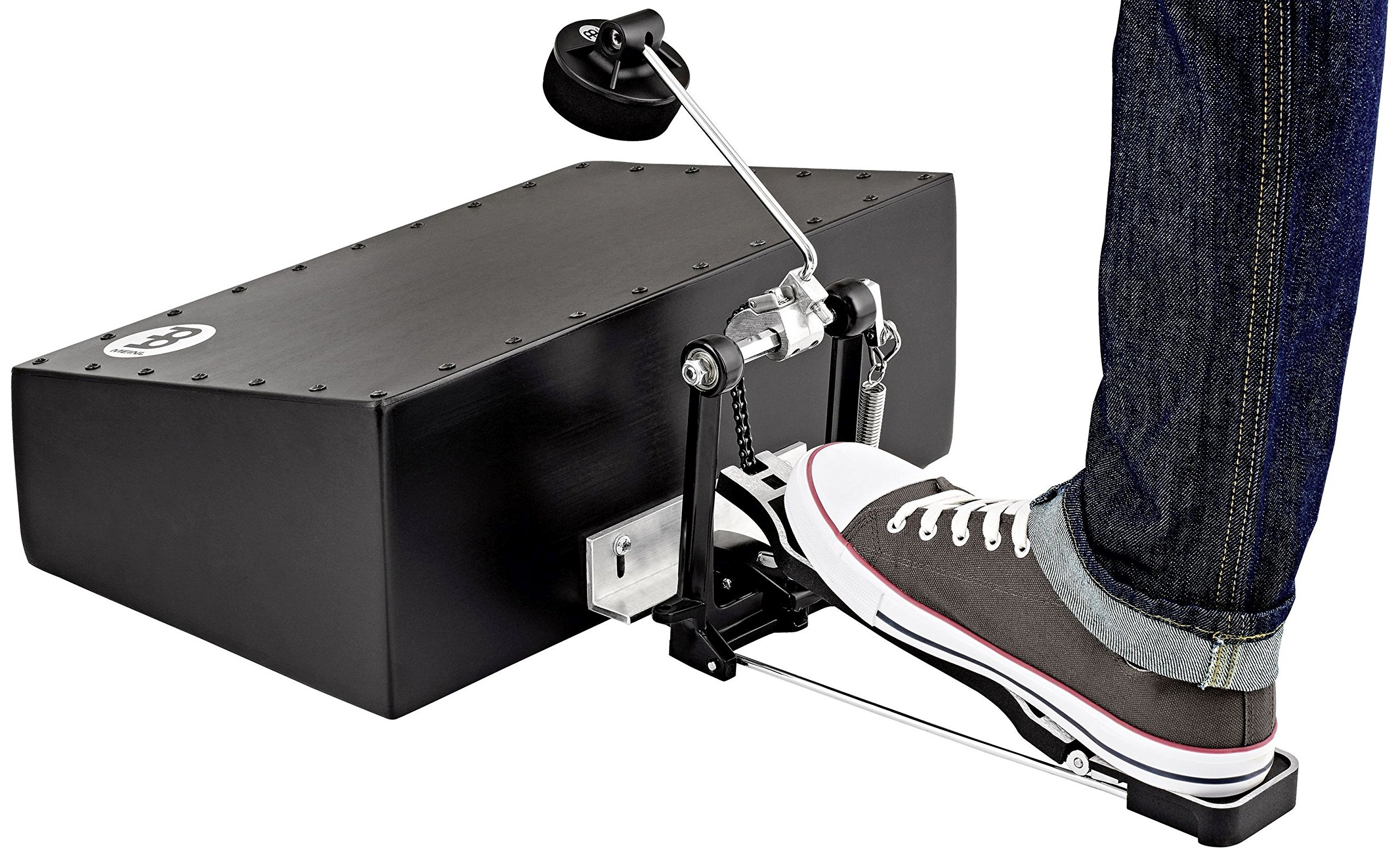 Meinl Percussion BASSBOX Acoustic Cajon Stomp Box with L-Shaped Beater, Black (VIDEO) by Meinl Percussion (Image #2)