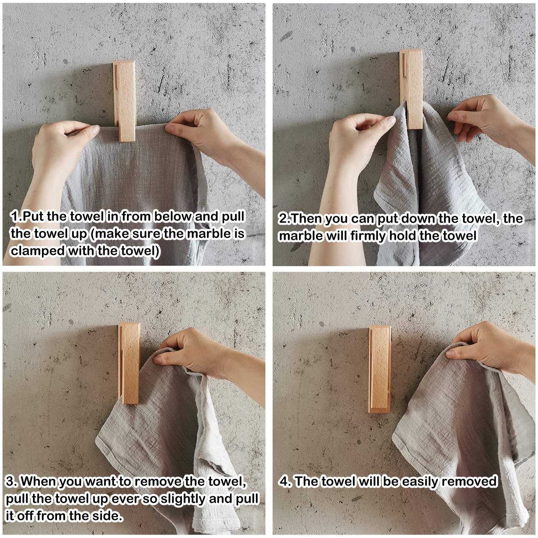 Amazon.com: JINMURY - Juego de 2 toalleros de madera ...