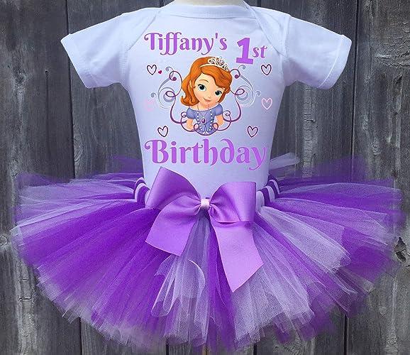 6d0a962f64 Amazon.com: Princess Sofia Personalized Birthday Outfit Tutu Set: Handmade
