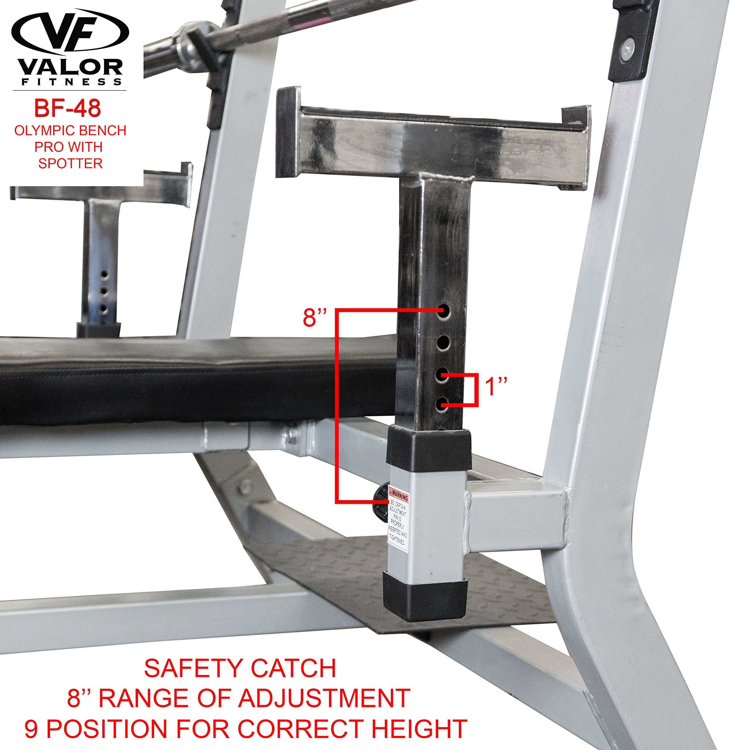Valor Fitness BF-48 Olympic Bench Pro with Spotter by Valor Fitness (Image #4)