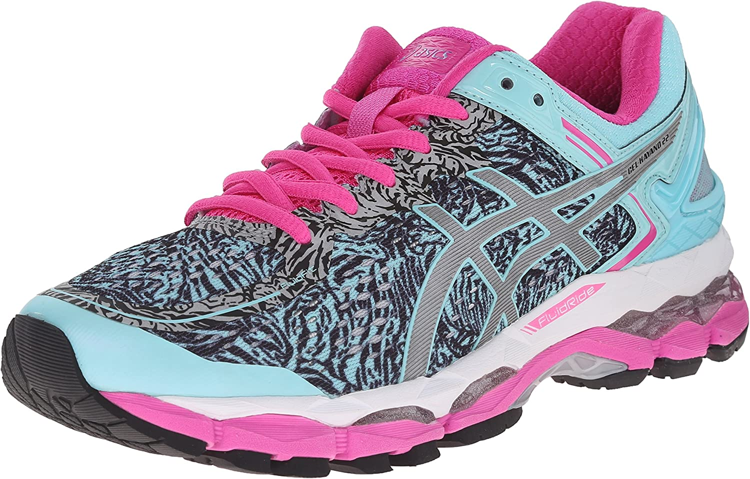 Asics Gel Kayano 22 womens Running Shoes Size 7 Aqua Splash