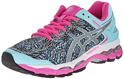 ASICS Women's Gel Kayano 22 Lite Show Running Shoe, Aqua Splash/Silver/Pink