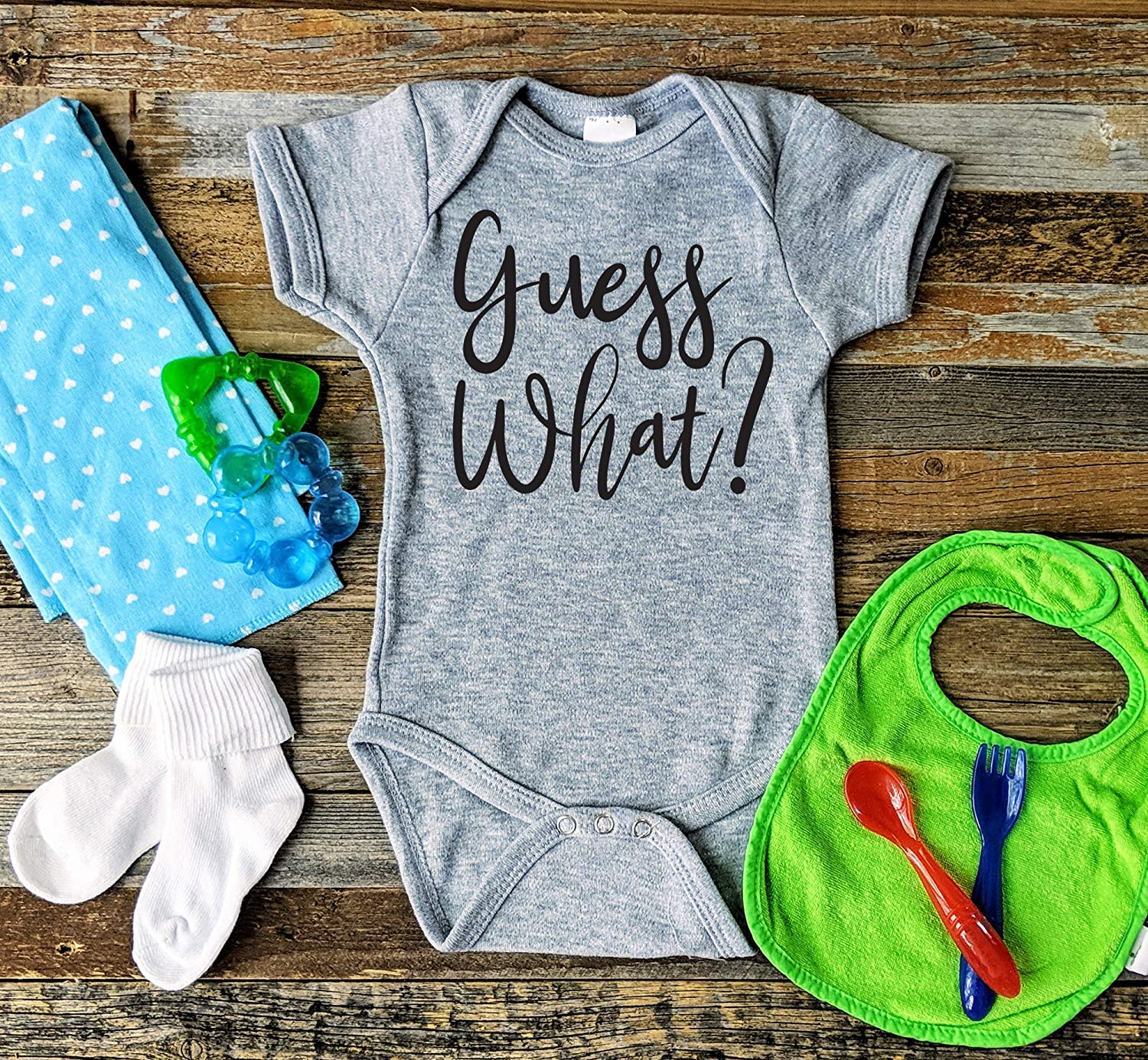 baby pregnancy announcement grandparents guess what? baby reveal Onesies\u00ae pregnancy reveal to husband pregnancy announcement Onesies\u00ae