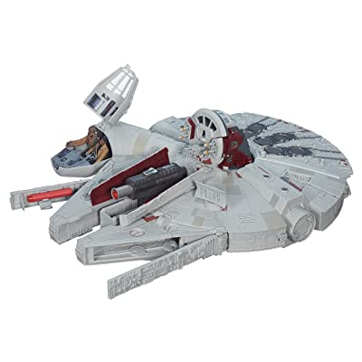 Star Wars The Force Awakens Battle Action Millennium Falcon: Hasbro: Toys & Games