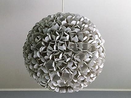 Grey pearl flower graue lampe leuchte lampenschirm pendelleuchte