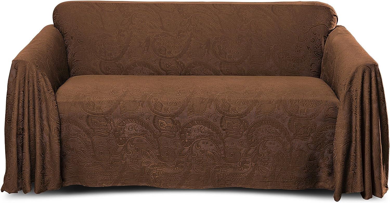 Stylemaster Alexandria Furniture Throw, Large Sofa, Chocolate