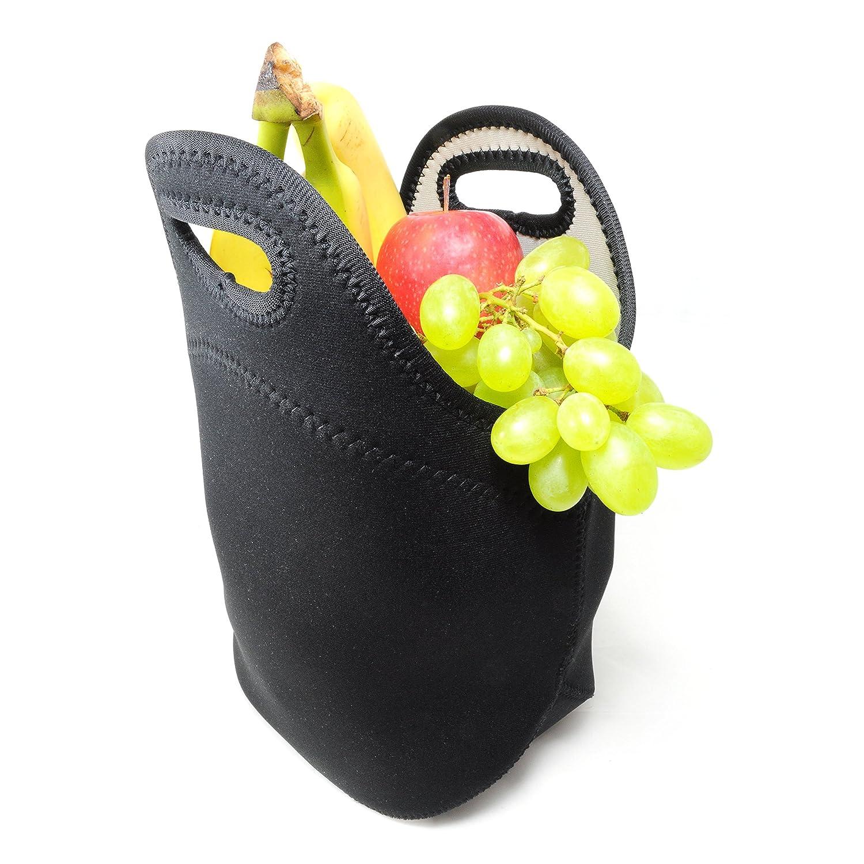 Bolsa/funda de neopreno con asa de transporte de calor, aislante térmico-para al aire libre/Picnic/bebidas & fiambrera, colour: negro - marca ganzoo #5086sw