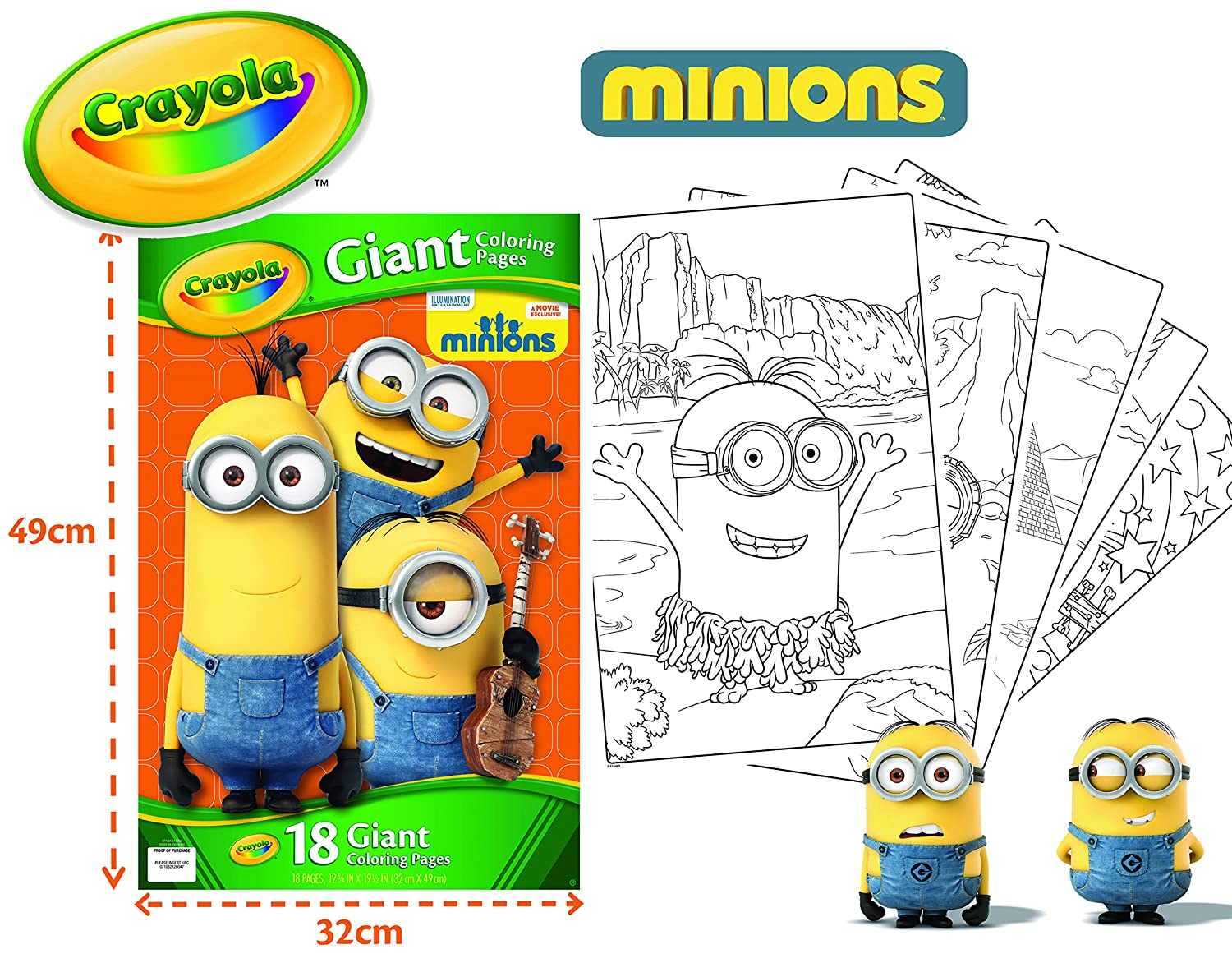 Amazoncom Crayola Giant Color Pages Minions Toys Games