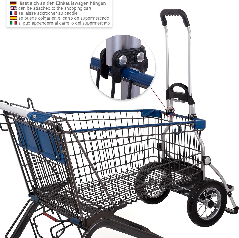 Andersen Einkaufstrolley Royal mit Einkaufstasche Dante blau 45 Liter Regencape extra Laptoptasche Spanngurt und Fahrrad-Anh/ängerkupplung