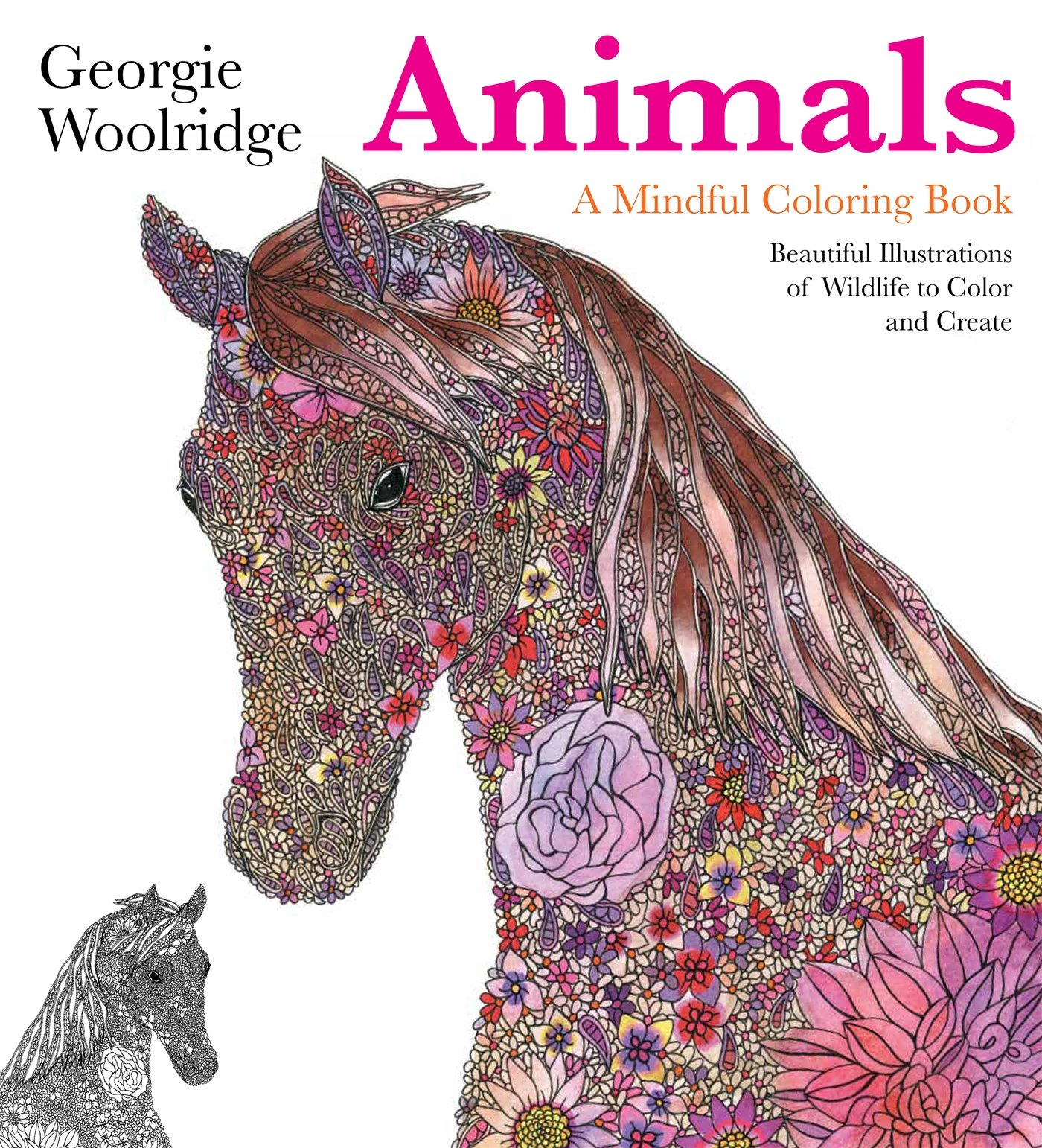 Animals Mindful Coloring Georgie Woolridge product image