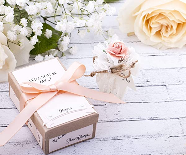 Amazon Com Coral Bridesmaid Gift Will You Be My Bridesmaid Message
