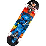 Punisher Skateboards Puppet 31-Inch Double Kick Concave Complete Skateboard