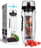 AquaFrut 32 OZ Fruit Infuser Water Bottle BPA-Free Fruit Infusion Sports Bottle - Flip Top Lid w Drinking Spout, Leak…