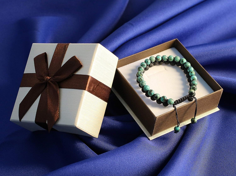 coai Bracelet Double-Rangs Pierres V/éritables Unisexe