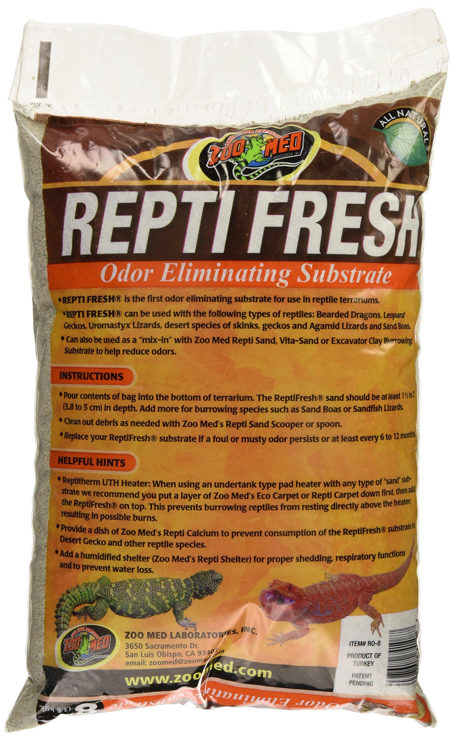 Zoo Med ReptiFresh Odor Eliminating Substrate, Blacks & Grays, 8 lb