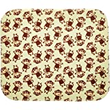 Carter's Keep Me Dry 3 Piece Flannel Lap Pad, Monkey (Discontinued by Manufacturer)