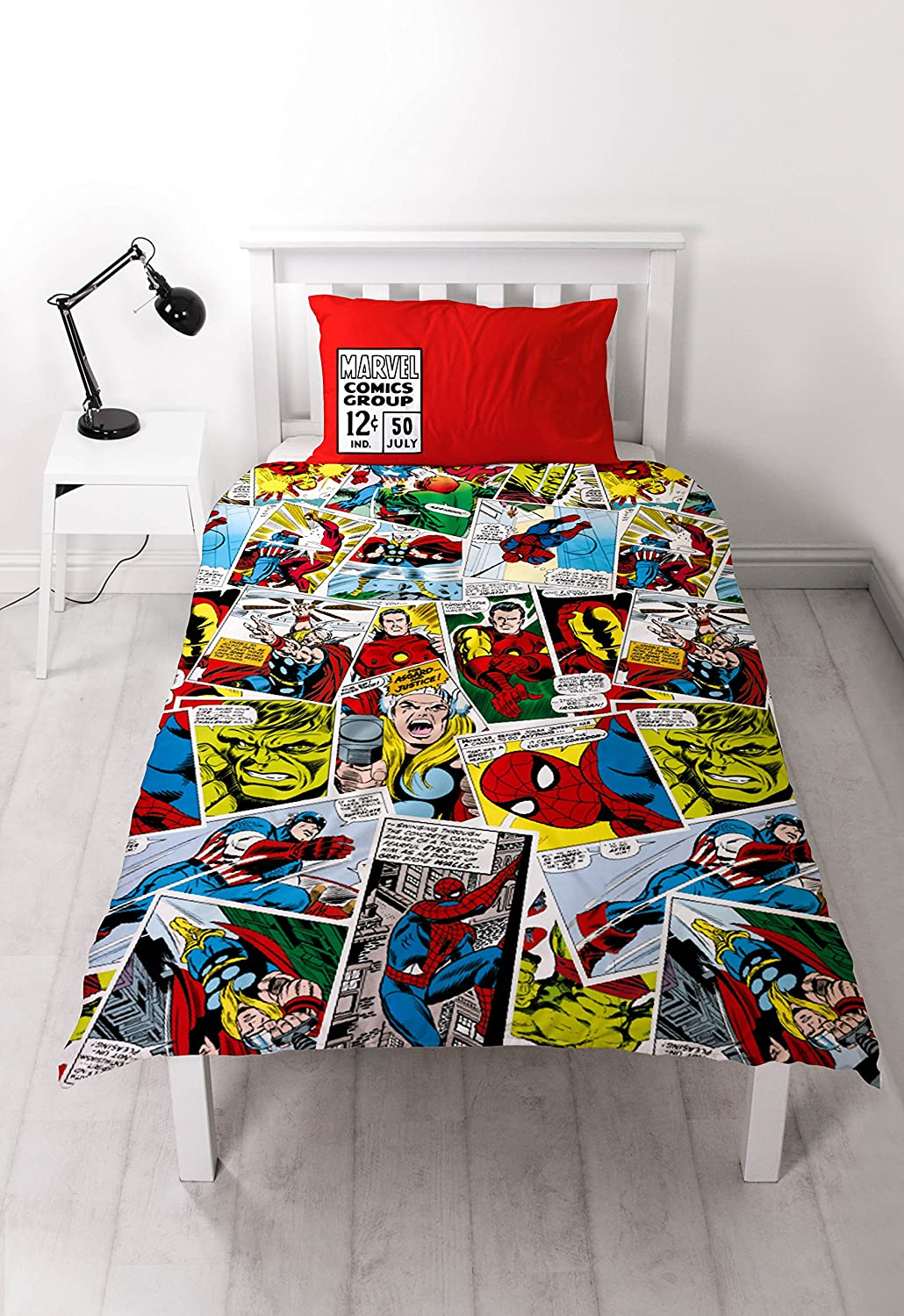 Marvel Comics Single Duvet & Pillow Cover Set DMCJUSDS001UK1