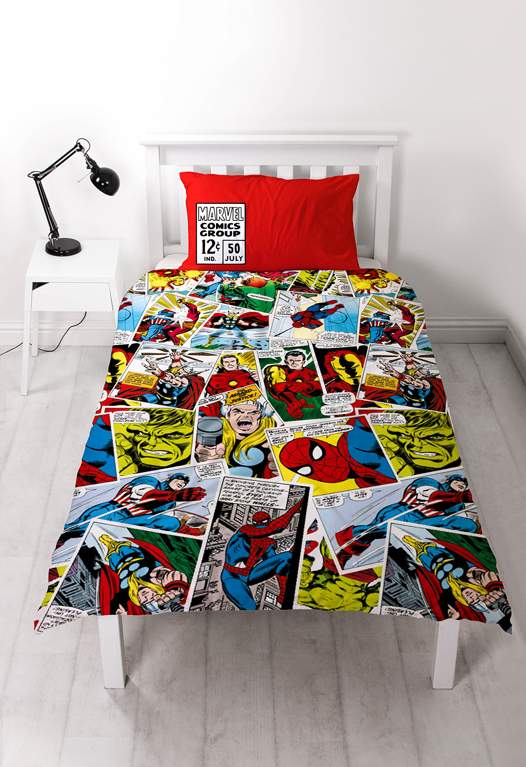 Marvel Disney Comics Justice Single 91cm Rotary Duvet Set, Multicoloured