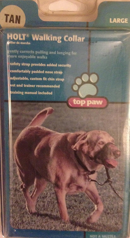 Top paw Walking Collar For Large Dog(Tan)