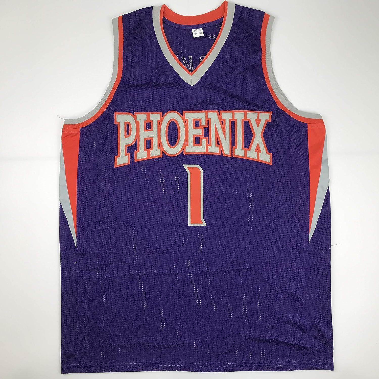 pretty nice 1d526 ac3e4 Unsigned Devin Booker Phoenix Purple Custom Stitched ...