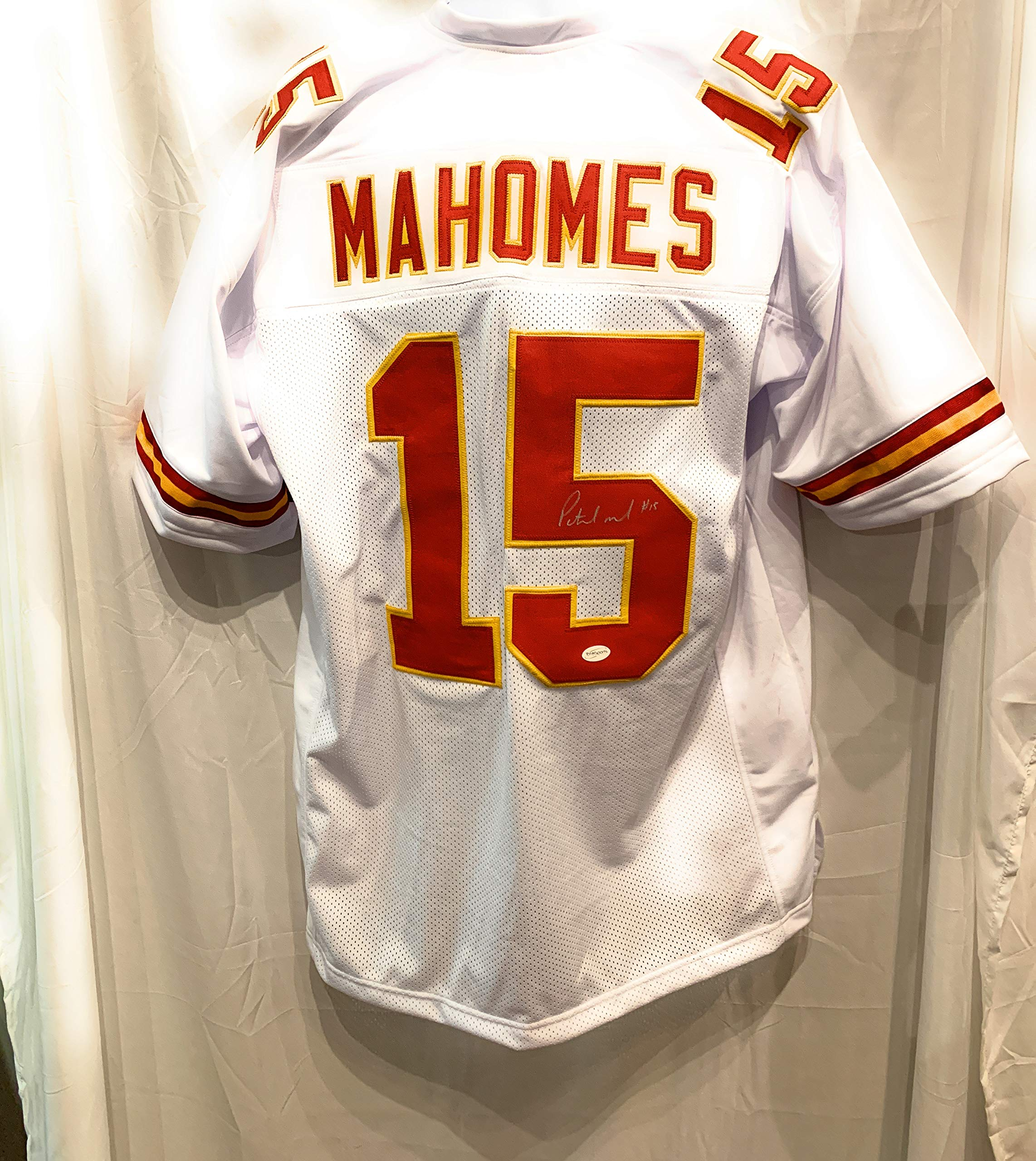 Patrick Mahomes Kansas City Chiefs Signed Autograph White Custom Jersey Certified Authentic