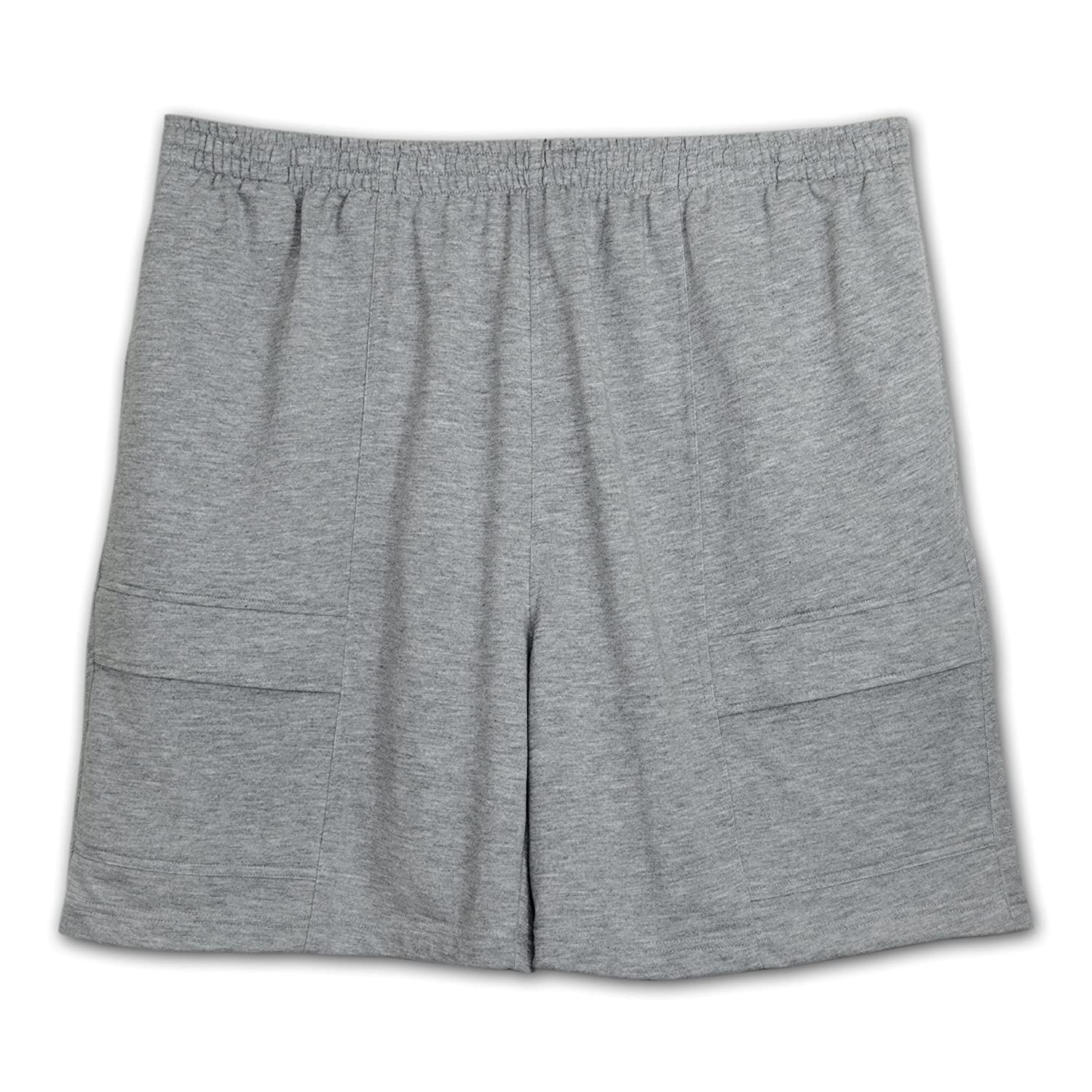 0a450c48b8 Amazon.com: LD Sport Big and Tall Fully Elastic Terry Cargo Shorts: Clothing