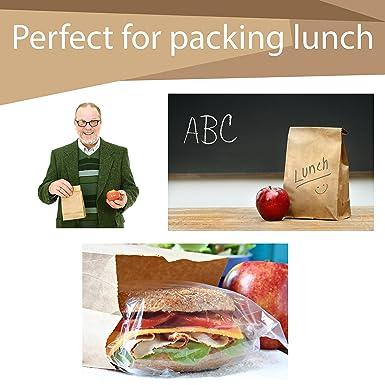 Amazon.com: 200 bolsas de papel para almuerzo de sándwiches ...