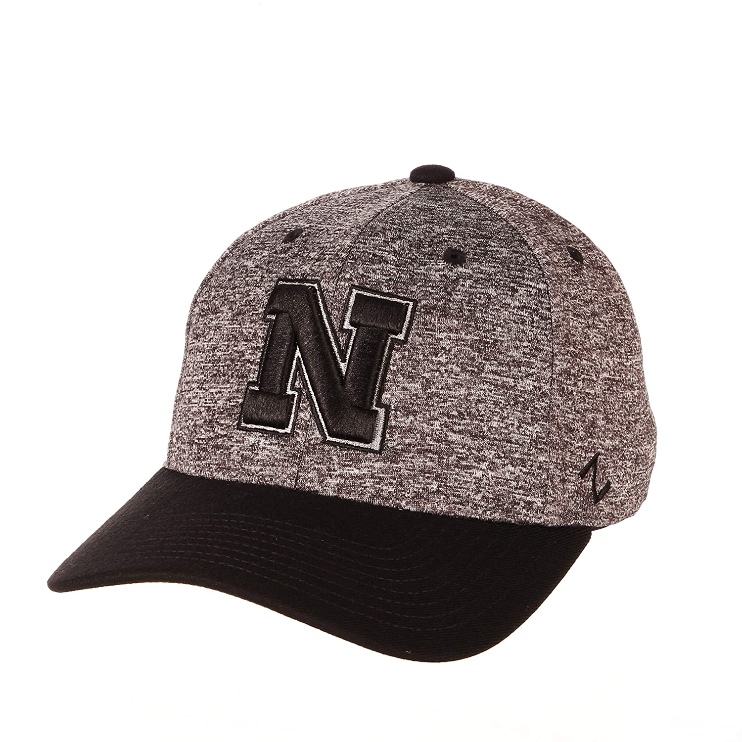 X-Large NCAA Zephyr Nebraska Cornhuskers Mens Interference Z-Fit Hat Charcoal//Black