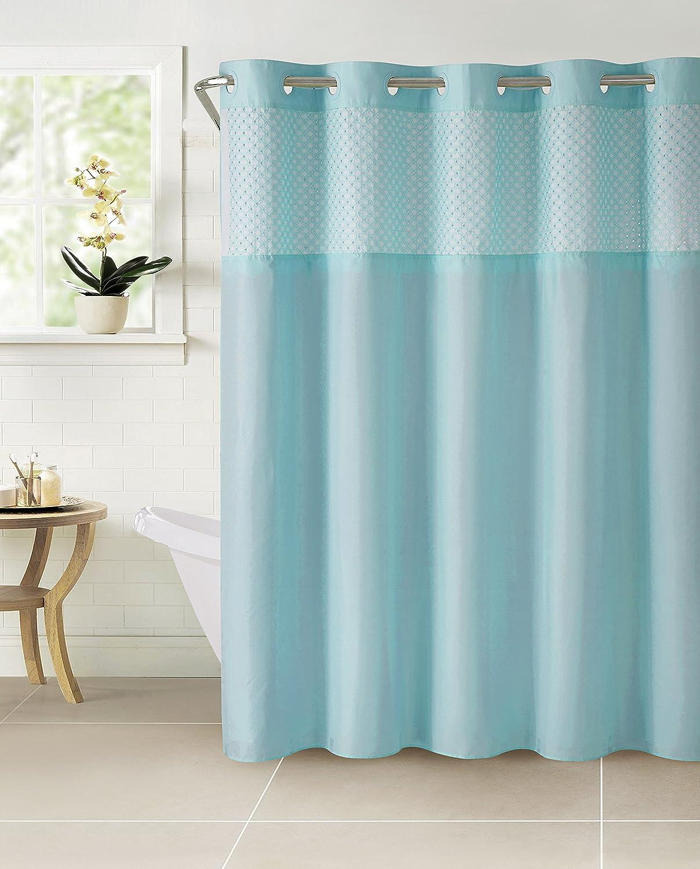 Amazon.com: Hookless RBH40MY114 Bahamas Shower Curtain with Peva ...