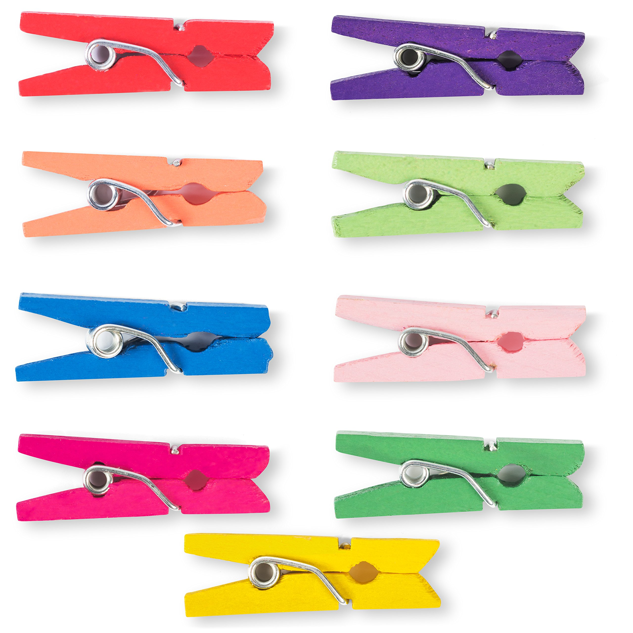 250 Pcs Mini Colored Clothespins - Perfect for Kids Crafting and Photo Hanging