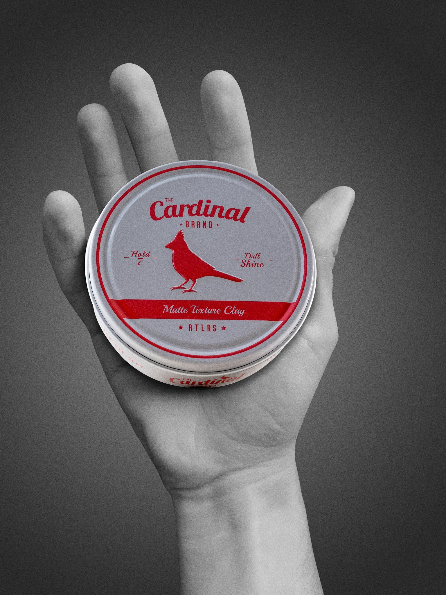 The Cardinal Brand Atlas Matte Texture Clay 3.4 Ounce is an Ultra Lightweight, Matte Hair Clay, Medium to Firm Hold, Thickening, Volume Building, Hair Styling and Grooming Product for Men and Women by The Cardinal Brand (Image #4)
