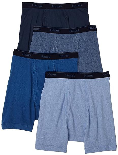 Hanes para hombre Classics Multicolor Boxer breve ropa interior (Pack de 4) - Multi