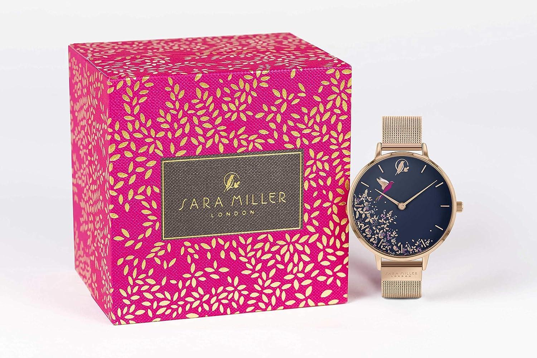 Sara Miller Chelsea Collection SA4006 - Reloj con Correa de Malla bañado en Oro Rosa: Amazon.es: Relojes