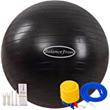 BalanceFrom Anti-Burst and Slip Resistant Exercise Ball Yoga Ball Fitness Ball Birthing Ball with Quick Pump, 2,000-Pound Cap