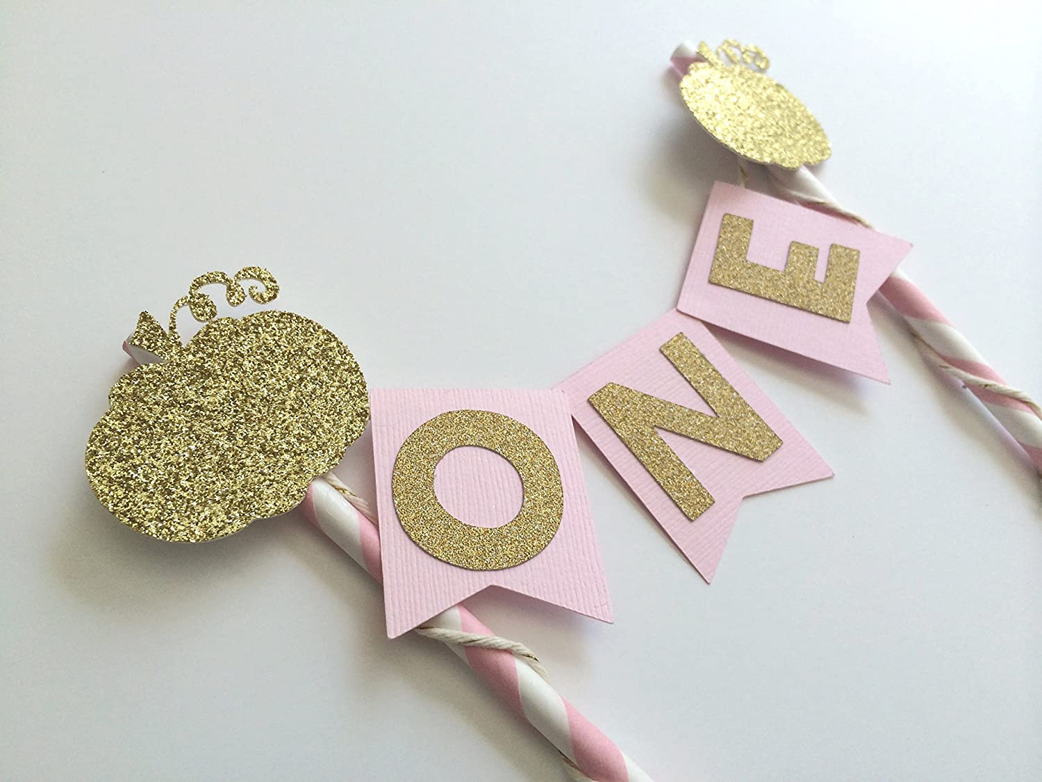 1st Birthday Party Decorations Pink and Gold Cake Topper FREE SHIPPING! Little Pumpkin Party Decorations