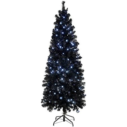 newest 1135d 204bf WeRChristmas Pre-Lit Slim Christmas Tree with 200 White LED ...