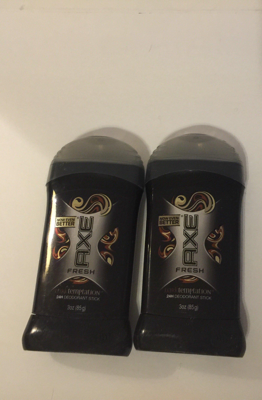 Axe anti perspirant dark temptation solid deodorant 2.7 ounces each