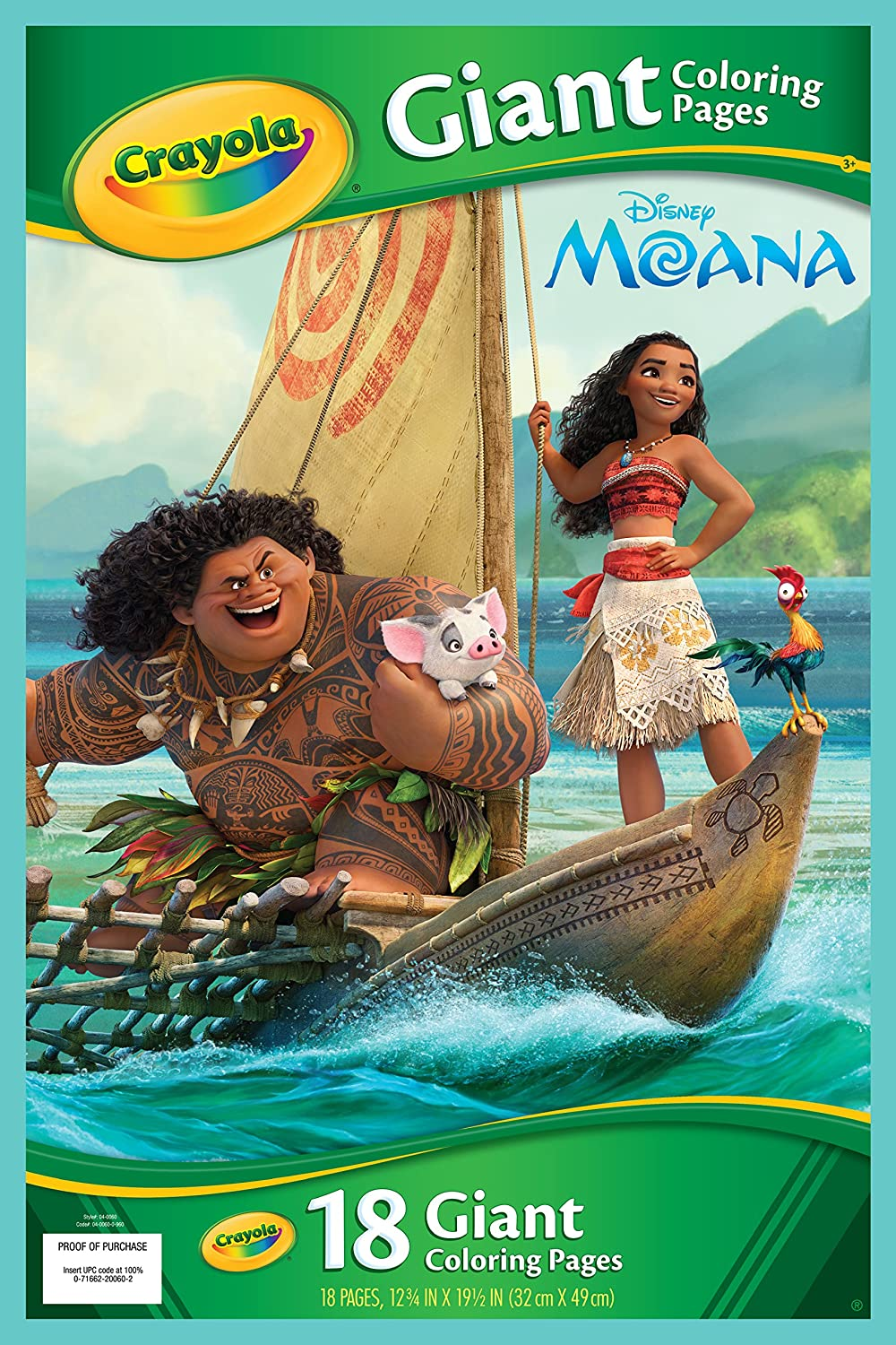 Shopkins giant coloring book - Crayola 04 0060 0 000 Moana Giant Colouring Pages