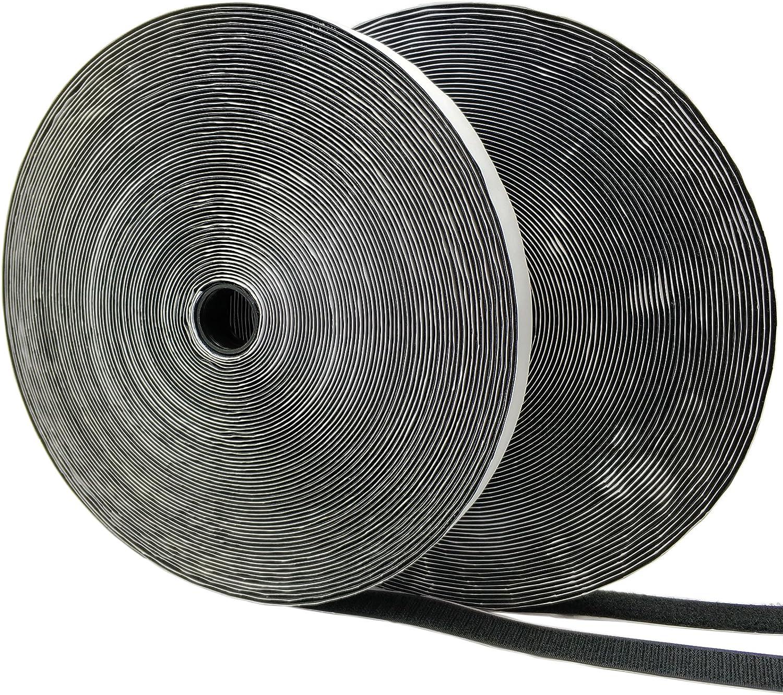20 mm de Ancho Gancho y Bucle Eroilor 8 m Hook y Loop Auto Adhesivo Autoadhesivo Blanco