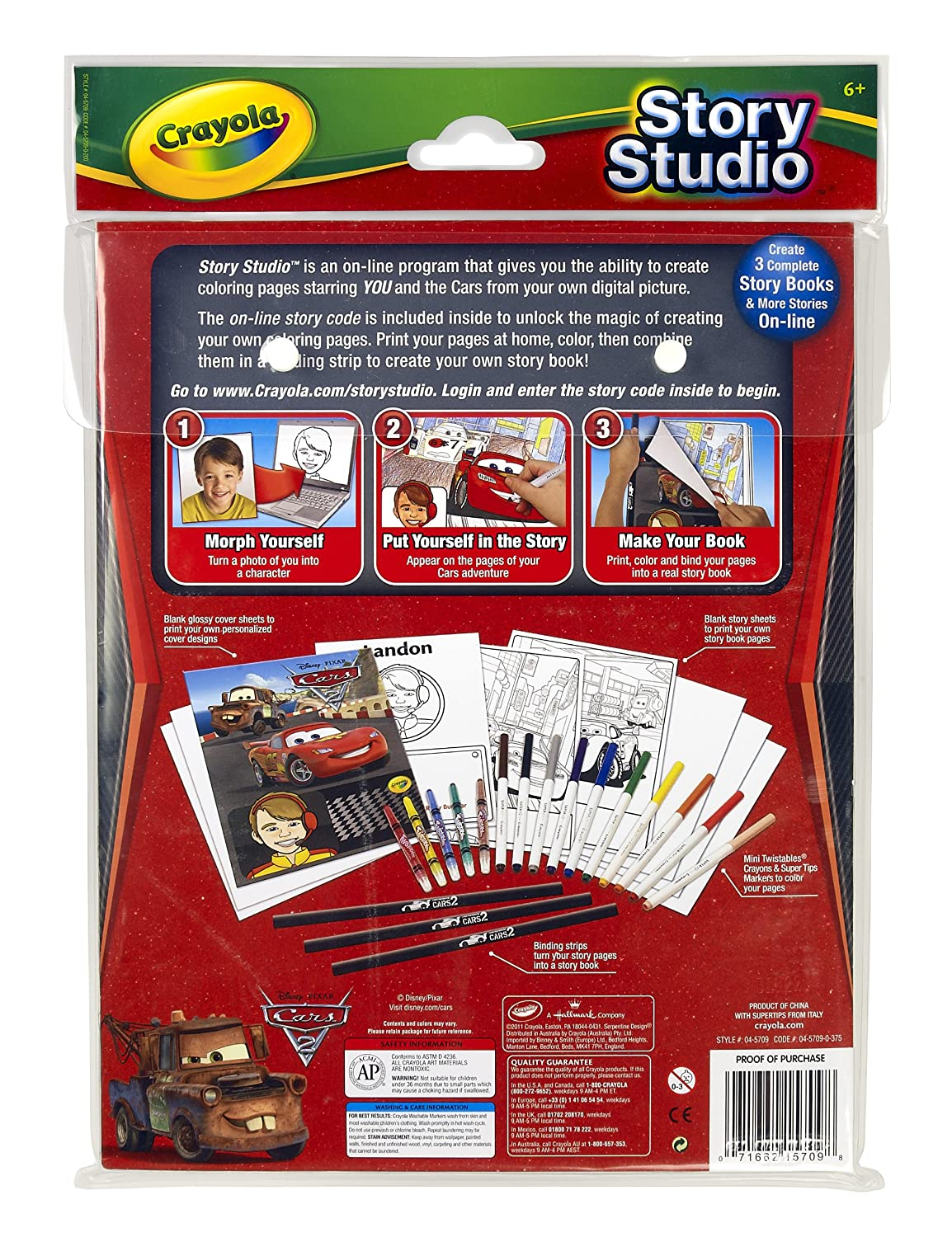 amazon com crayola story studio comic maker cars 2 toys u0026 games