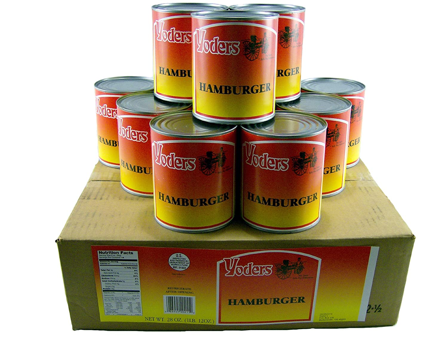 Number ten cans for sale - Amazon Com 12 Cans Full Case Yoders Canned Bacon 9 Oz Each Canned And Packaged Meats Grocery Gourmet Food