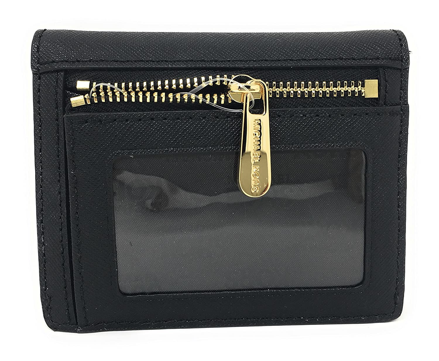 5e2437a828e679 Michael Kors Jet Travel Leather Credit Card Case ID Wallet with Key Ring  (Black): Amazon.co.uk: Clothing